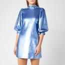 Ganni Women's Sequins Dress - Forever Blue