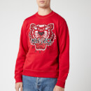 KENZO Men's Classic Tiger Embroidered Sweatshirt - Red