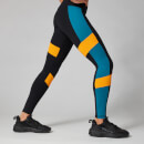 Power Colour Block Leggings - Svart - XS
