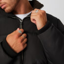 Double Panel Puffer Jacket - Black - XS