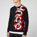 HUGO Men's Dosaka Chevon Sweatshirt - Black/Red