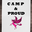 Rock On Ruby Camp & Proud Cotton Tea Towel