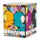 Kidrobot Kronk Love Birds Lovebirds Orange Yellow Vinyl Figure