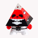 Kidrobot Pyramidun Dunny Red Edition 3 Inch Figure by Andrew Bell