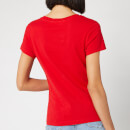Calvin Klein Jeans Women's Institutional Logo Slim Fit T-Shirt - Barbados Cherry
