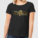 Shazam Gold Logo Women's T-Shirt - Black