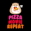 Hamsta Pizza Movie Repeat Logo Light Sweatshirt - Black