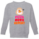 Hamsta Pizza Movie Repeat Kids' Sweatshirt - Grey