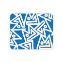 Mouse Mats Aztec Triangular Blue Pattern Mouse Mat