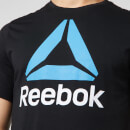Reebok Men's Reebok Stacked Short Sleeve T-Shirt - Black