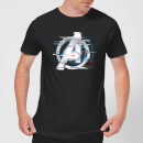 Avengers: Endgame White Logo Men's T-Shirt - Black