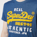 Superdry Men's Vintage Authentic Duo T-Shirt - Blue Black Grit