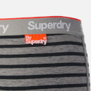 Superdry Men's Orange Label Triple Pack Boxers - Grey/Black