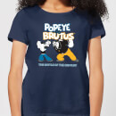 Popeye Popeye Vs Brutus Women's T-Shirt - Navy