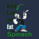 Popeye Keep Calm And Eat Spinach Men's T-Shirt - Navy