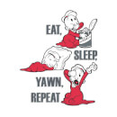 Popeye Eat Sleep Yawn Repeat Hoodie - White