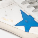 Golden Goose Deluxe Brand Men's Superstar Leather Trainers - White/Ice Blue Star
