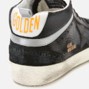Golden Goose Deluxe Brand Men's Mid Star Leather Trainers - Black/Black Star