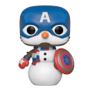Figura Funko Pop! - Capitán America - Marvel Holiday