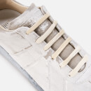 Maison Margiela Men's Replica Low Top Trainers - Grey/White Paint