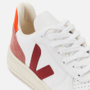 Veja Women's V-10 Leather Trainers - Extra White/Marsala/Dried Petal/Orange Fluo