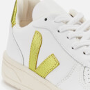 Veja Women's V-10 Leather Trainers - Extra White/Pagi