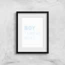 Boy Definition Art Print