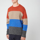 YMC Men's Bash Street Black Striped Jumper - Multi