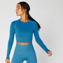 Shape Seamless Crop Top — Blau - S