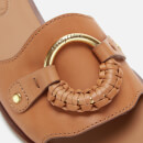 See By Chloé Women's Leather Slide Sandals - Cognac
