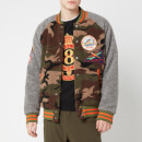 Polo Ralph Lauren Men's Vintage Sherpa Fleece Bomber Jacket - Camo/Dark Vintage Heather