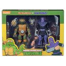 "NECA Teenage Mutant Ninja Turtles 7"" Scale Action Figure Target Exclusive Michelangelo Vs Foot Solider 2 Pack"