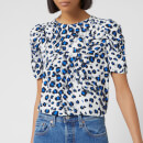 Whistles Women's Brushed Leopard Shell Top - White/Multi