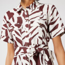 Whistles Women's Graphic Zebra Shirt Dress - Brown/Multi