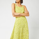 Whistles Women's Llora Clouded Leopard Dress - Yellow/Multi