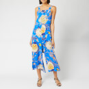 Whistles Women's Exotic Floral Strappy Jumpsuit - Blue/Multi