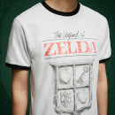 T-Shirt Legend Of Zelda Logo Retro - Blanc