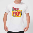 Does It Fry Logo Men's T-Shirt - White