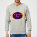 Lanre Retro The Hustle Is Real Sweatshirt - Grey