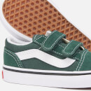 Vans Toddlers' Old Skool Velcro Trainers - Trekking Green/True White