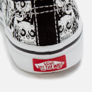 Vans Toddlers' Authentic Elastic Lace Glow Skulls Trainers - Black/True White