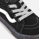 Vans Toddlers' Sk8-Hi Zip Water Resistant Trainers - Glitter Sidewall Black
