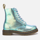 Dr. Martens Women's 1460 Iridescent Pascal 8-Eye Boots - Blue