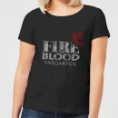 Game of Thrones Fire And Blood Women's T-Shirt - Black