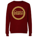 Game of Thrones Circle Logo Women's Sweatshirt - Burgundy