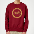 Game of Thrones Circle Logo Sweatshirt - Burgundy