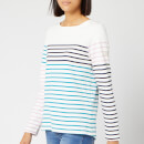 Joules Women's Harbour Long Sleeve Top - Cream Navy Stripe