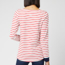 Joules Women's Harbour Embroidered Yuledog Top - Red Stripe