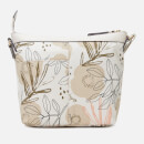 Radley Women's Desert Floral Medium Zip Top Cross Body Bag - Light Natural