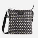 Radley Women's Multi Dog Oilskin Small Zip Top Cross Body Bag - Black